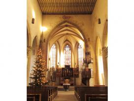 Johanneskirche Crailsheim - Innenraum im Advent